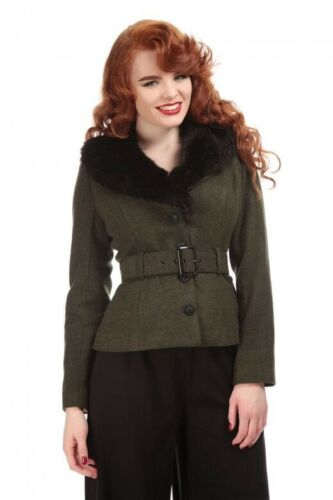 Collectif Mainline Molly Jacket Olive Green 8 Pinu