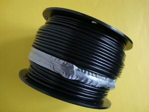 BLACK Vinyl Coated Wire Rope Cable, 1/4\