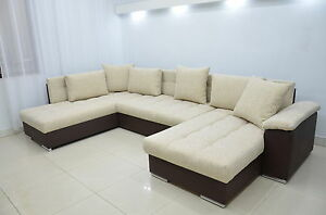 Double Chaise Corner Sofa Bed Eric Large Bedding Place