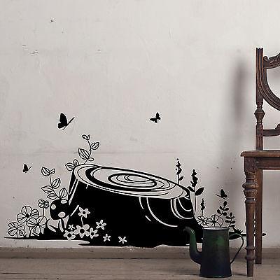 Tree Stump Wall Stickers, Wall Graphics, Wall Art, Wall Decorations