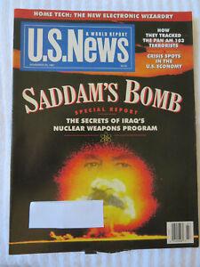 U-S-NEWS-MAGAZINE-NOVEMBER-1991-SADDAM-039-S-BOMB-SECRETS-OF-IRAQ-039-S-NUCLEAR-WEAPONS
