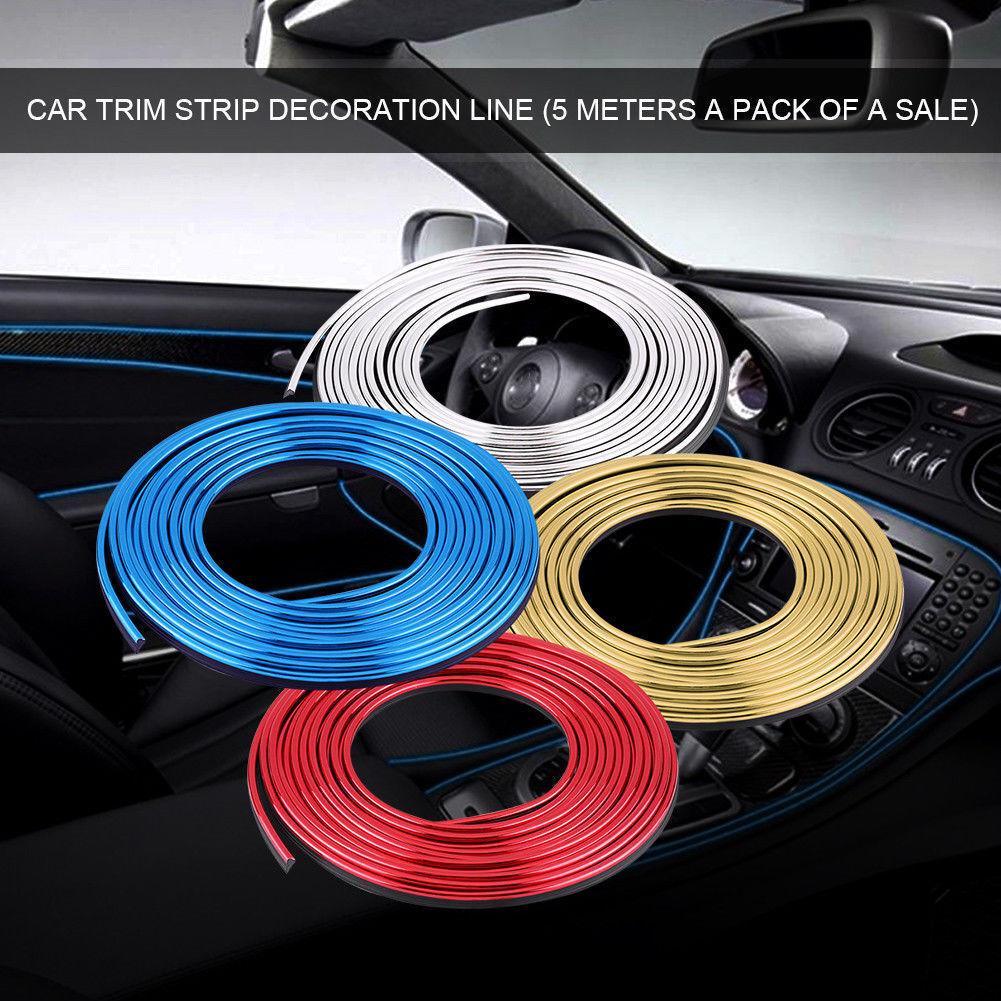5M Interior Zierleiste Dekor Flexible Line Strip Auto Innenausstattung 101814