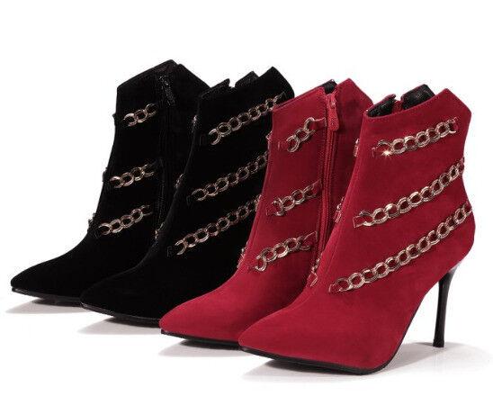 presa di marca Stivali stivaletti invernali scarpe scarpe scarpe stiletto donna simil pelle nero 11 cm 9371  classico senza tempo