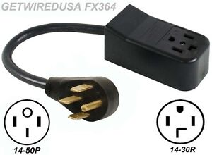 Image Is Loading 14 30r Receptacle To 4 Pin 50p