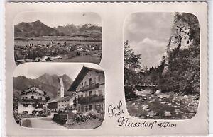 Ansichtskarte Nussdorf am Inn - Ortsansicht/Häuser/Steilwand - schwarz/weiß