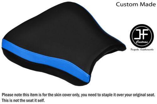 STYLE 2 LIGHT BLUE BLACK VINYL CUSTOM FOR SUZUKI GSXR 600 96-00 FRONT SEAT COVER