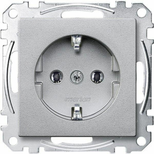 Merten Enchufe Schuko Unidad Plug-In Systemm MEG2301-0460 Aluminio