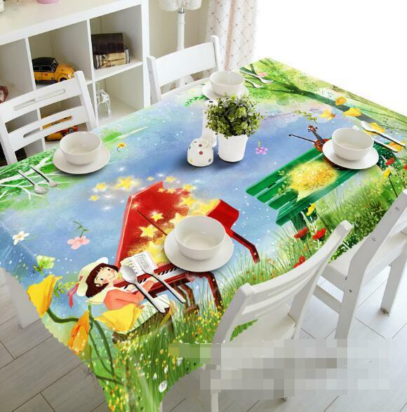 3D Piano 633 Tablecloth Table Cover Cloth Birthday Party Event AJ WALLPAPER AU