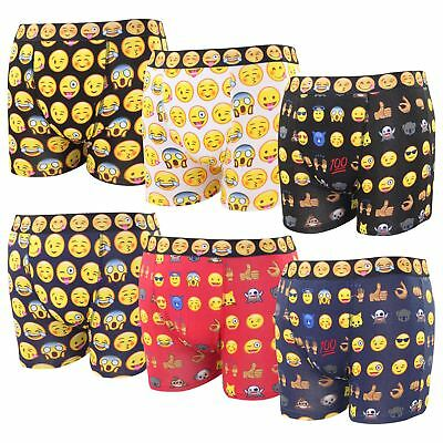 Professioneller Verkauf New Mens Emoji Printed Assorted Patterned Funny Novelty Shorts Trunks Underwear Hochwertige Materialien