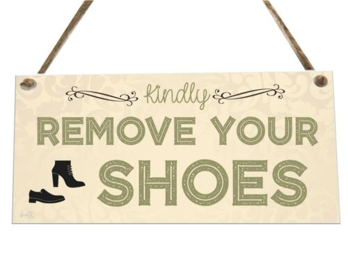 Remove Your Shoes House Wooden Novelty Plaque Sign Gift fcp74