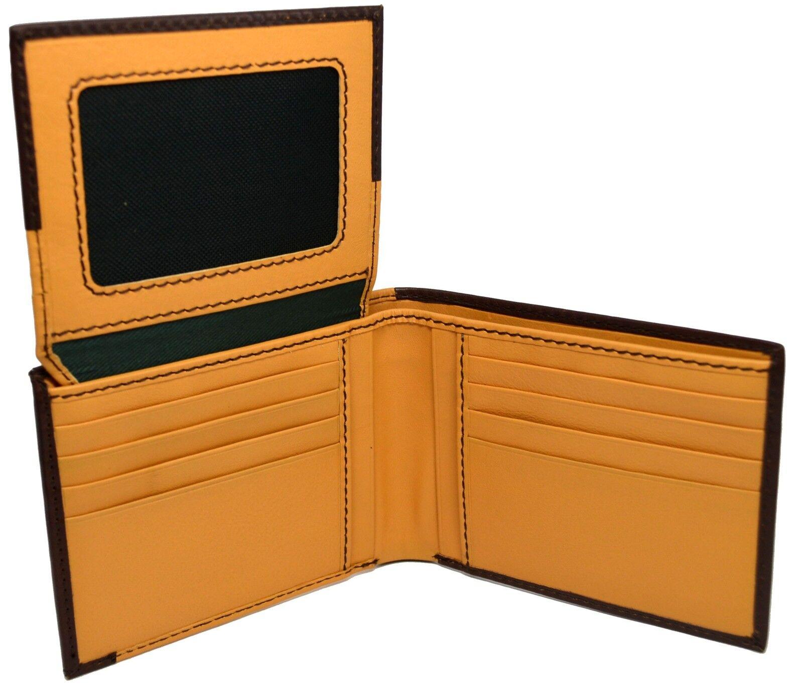 Leather Wallet La Martina Man slots card case Dark yellow 225011