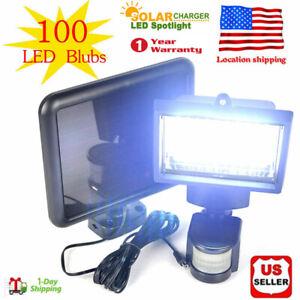 100-LEDs-Solar-Powered-Sensor-Light-Security-Flood-Motion-Outdoor-Garden-Lamp-US
