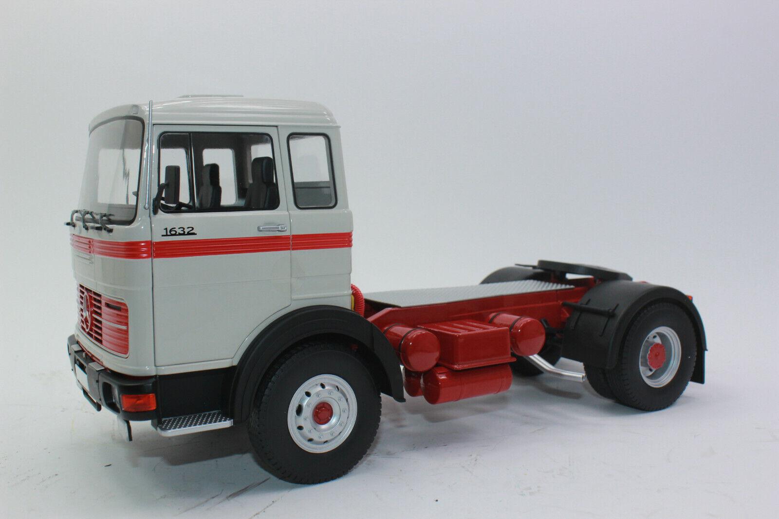 Road Kings rk180023 mercedes LPs 1632 BJ 1969 rojo gris tractor 1 18 nuevo