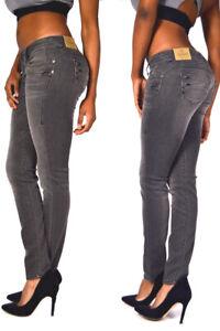 Herrlicher Piper Slim Jeans 5650 Dark Ash Sexy Behind Jeans New