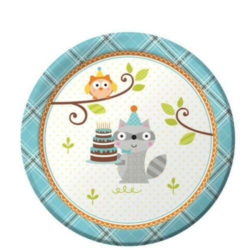 Happi Woodland Boy Forest Friends  Birthday Party Supplies Small Dessert Plates