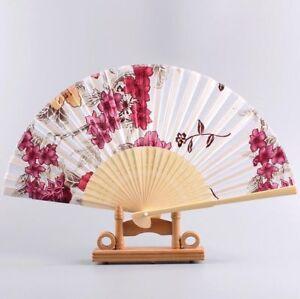 Expedie-de-Paris-Eventails-Ete-Fleur-De-Prunier-Japonais-Nippon-Ancien-Bambou