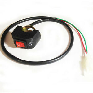 On/Off Switch (Kill Switch) Small size w/2-wire plug for Dirt bikes ...