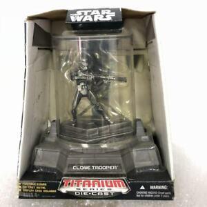 New-STAR-WARS-TITANIUM-SERIES-DIE-CAST-CLONE-TROOPER-2006-Action-Figure-toy