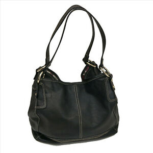 EUC-The-Sak-Black-Faux-Leather-Shoulder-Bag-SKU-E041