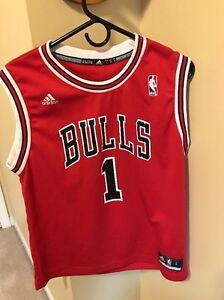 Derrick Rose Chicago Bulls Adidas Red Sewn Swingman Jersey Youth L ... 5346b3d3a
