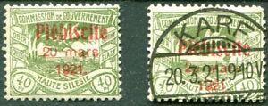 Oberschlesien-Nr-35-aus-30-40-postfrisch-gestempelt-ETST-KARF-Mi-80-00