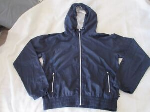 Women-039-s-Cotton-on-Body-Polyester-Hoodie-Navy-Blue-Zip-up-front-pockets-size-S