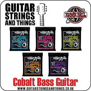 2 Pack Free Ship U.S. Ernie Ball 2814 Cobalt Slinky Bass Guitar Strings