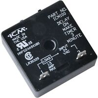 Icm Controls Icm100 Icm100b Delay On Make Timer Relay 24 Vac 3-minute Fixed