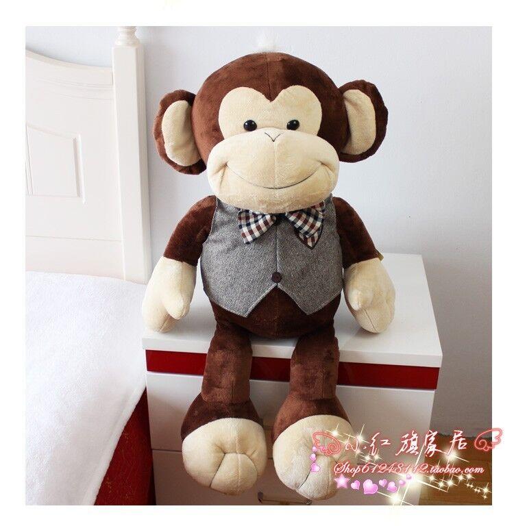 30  Huge Big Monkey Pillow Stuffed Animals Plush Soft Toys Doll Birthday Gifts