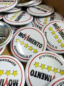 100-Buttons-Spille-Pins-37-mm-con-personalizzazione-a-colori-Movimento-5-stelle
