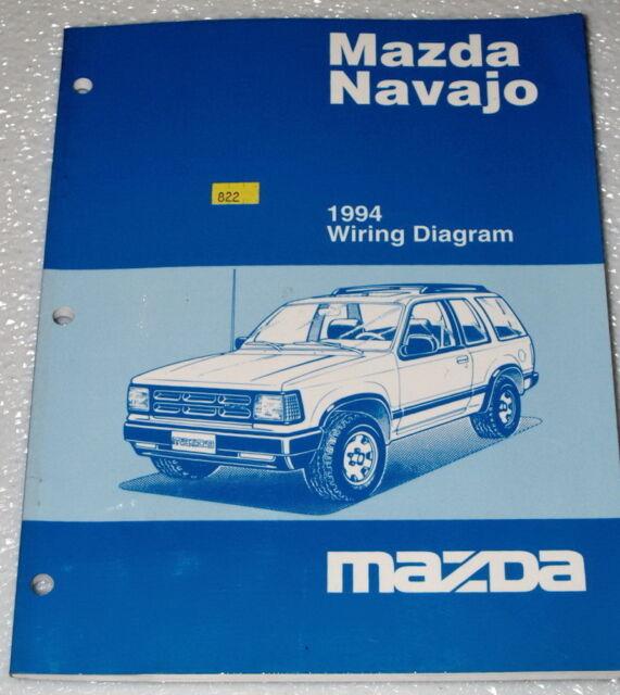 1994 Mazda Navajo Lx Dx Original Factory Electrical Wiring