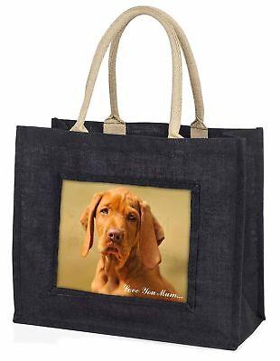 Ungarischer Vorstehhund' Liebe, die sie Mama' große schwarze Einkaufstasche