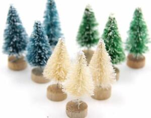 15pcs Diy Christmas Tree Small Pine Mini Trees Desktop Home Decor