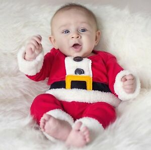 Baby Boy First Christmas Xmas Santa Party Costume Outfit