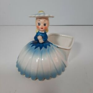 Napco Southern Bell Doll Planter Missing Parisol A1702D