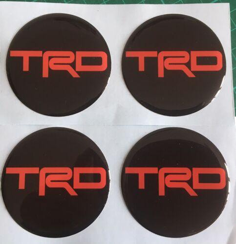 TOYOTA TRD tappo centrale cerchi in lega a Cupola Adesivi X4 MR2 CELICA NERO /& ROSSO 50mm