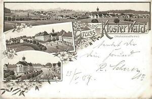 Ansichtskarte Kloster Wald Hohenzollern 1904 (Nr.813) - Eggenstein-Leopoldshafen, Deutschland - Ansichtskarte Kloster Wald Hohenzollern 1904 (Nr.813) - Eggenstein-Leopoldshafen, Deutschland