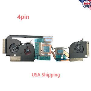 Details about Original NEW CPU+GPU Fan With Heatsink for MSI GS65 GS65VR  E322500290A MS-16Q2