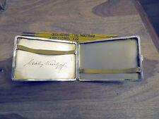Schweres Zigarettenetui aus Silber mit einer Signatur Innen um 1920 / 153 Gramm