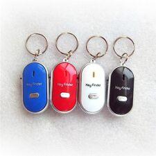 4pcs Lost Keys Finder Whistle Sound Control LED Seeker Alarm Locator Tracker