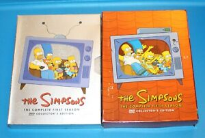 THE-SIMPSONS-COMPLETE-FIRST-AND-FIFTH-SEASONs-1st-5th-DVD-Sets-Great-Condition
