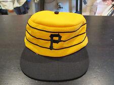 VINTAGE Pittsburgh Pirates MLB Baseball Pill Box Hat Cap Yellow Snap Back Twins