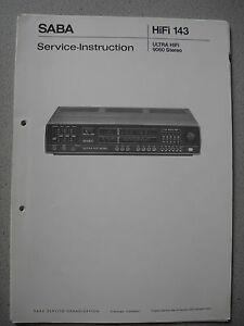SABA-Ultra-HiFi-9060-Stereo-Service-Manual-komplett