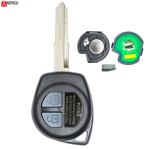 Uncut Remote Key 2 Button 433MHz ID46 Chip for SUZUKI Swift 2007-2013 TS004