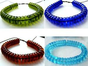10-mm-THICK-FLAT-ROUND-DISC-RONDELLE-SPACER-CZECH-GLASS-BEADS-4-COLOURS