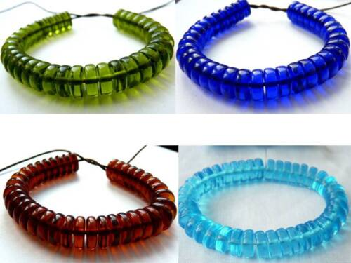 10 mm 4 COLOURS THICK FLAT ROUND//DISC//RONDELLE//SPACER CZECH GLASS BEADS