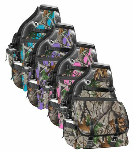 Showman  SADDLE BAG Deluxe REAL OAK CAMO 15  X 15  X 4  INSULATED 600 Denier  online-shop