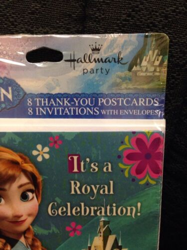 2 Packs of 8 DISNEY FROZEN BIRTHDAY PARTY INVITATIONS AND THANK YOU CARDS
