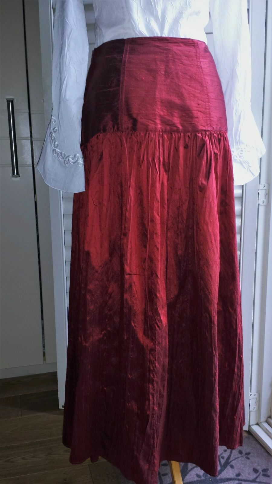 100 % silk taffeta womens maxi skirt Made in   SHE'S  SO Haute Couture