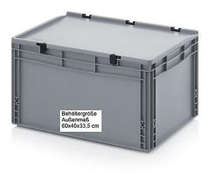 Euro-Behaelter-mit-Scharnier-Deckel-600x400x335-mm-Transport-Boxen-Sickerkasten